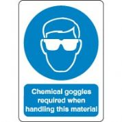 Mandatory Safety Sign - Chemical Goggles 035